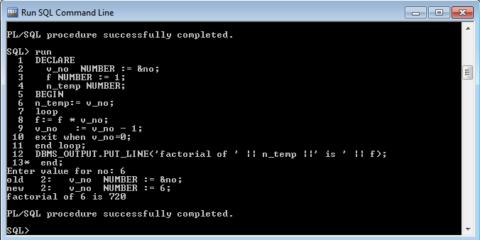 Program to print Factorial using Basic Loop