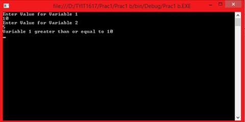 Tybscit ASP.NET Practicals 1b
