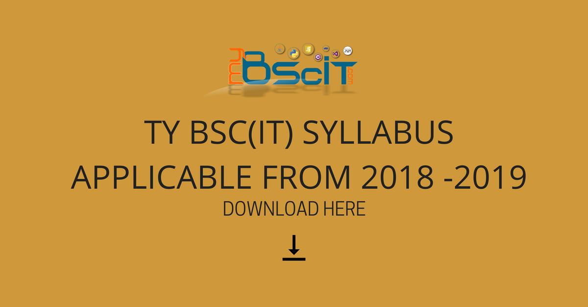 SYLLABUS OF BSCIT